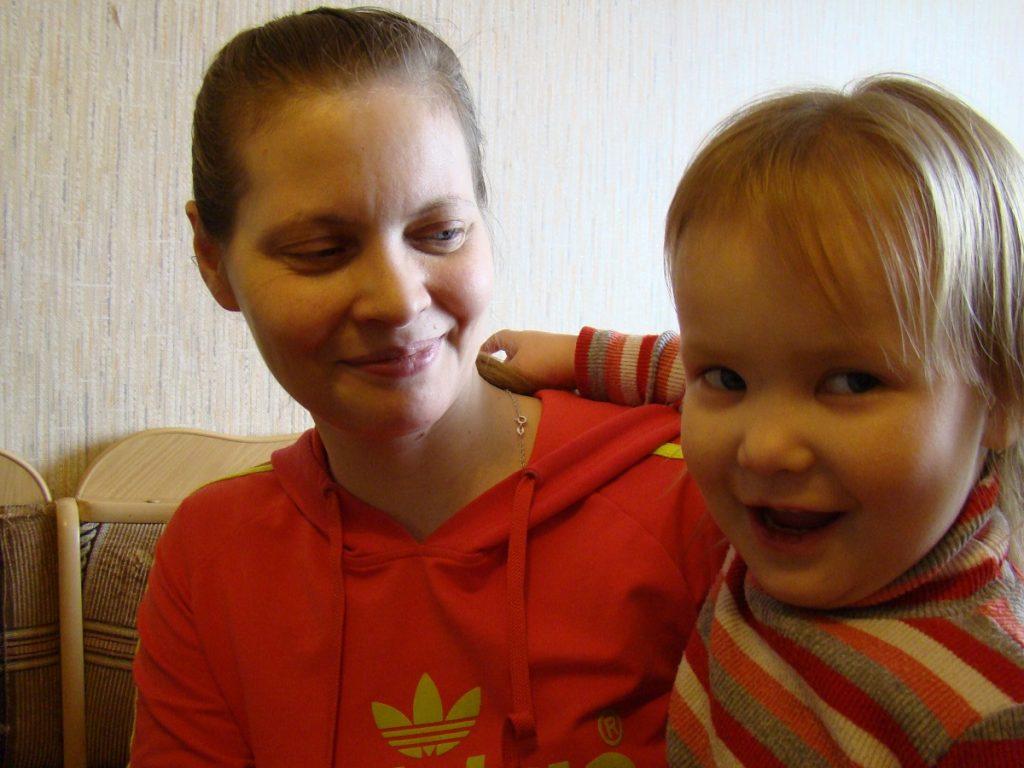 Moeder en kind Rusland