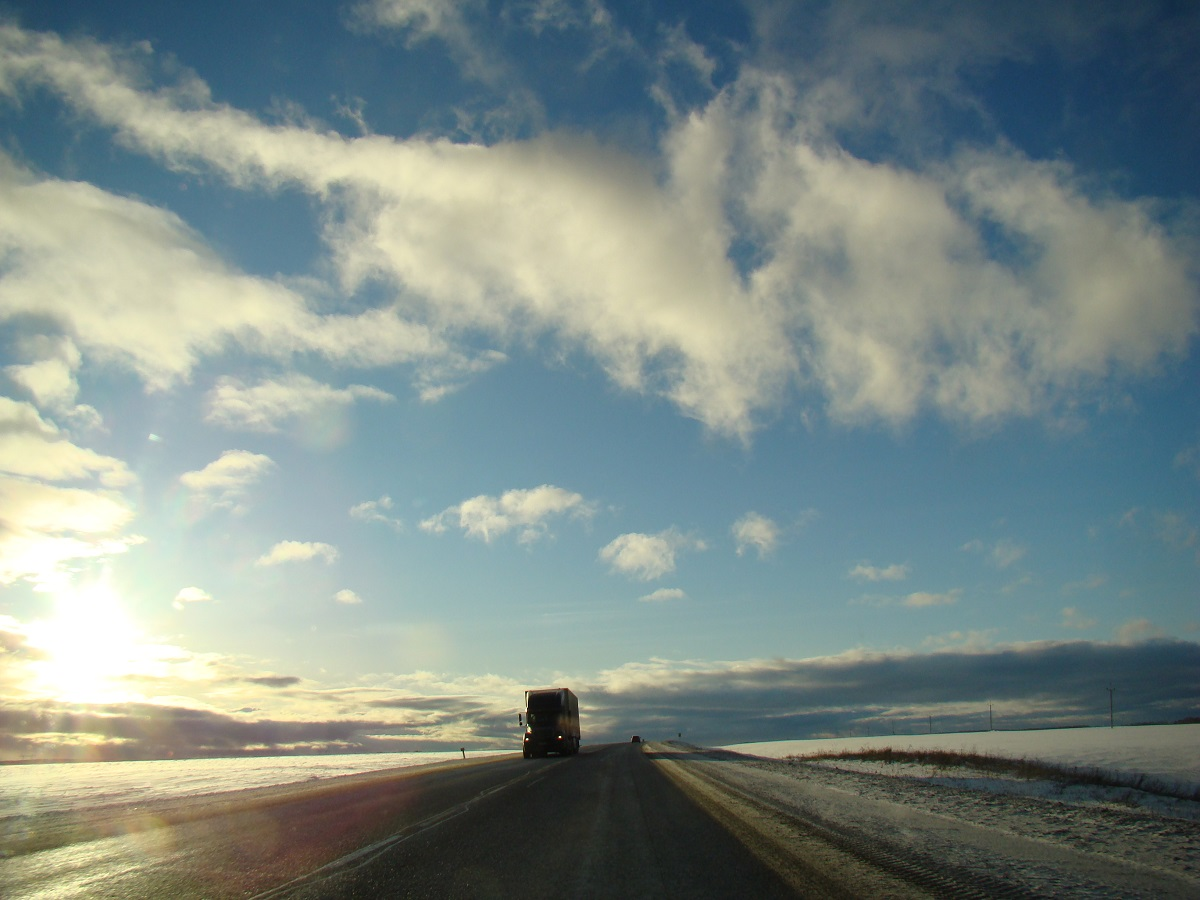 Weg Krasnoyarsk Bogotol Rusland