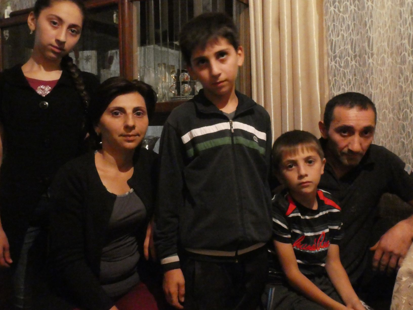 Gezin uit Ijevan Armenië