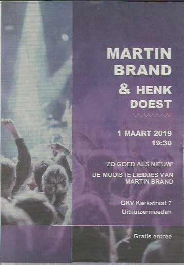 Martin Brand concert