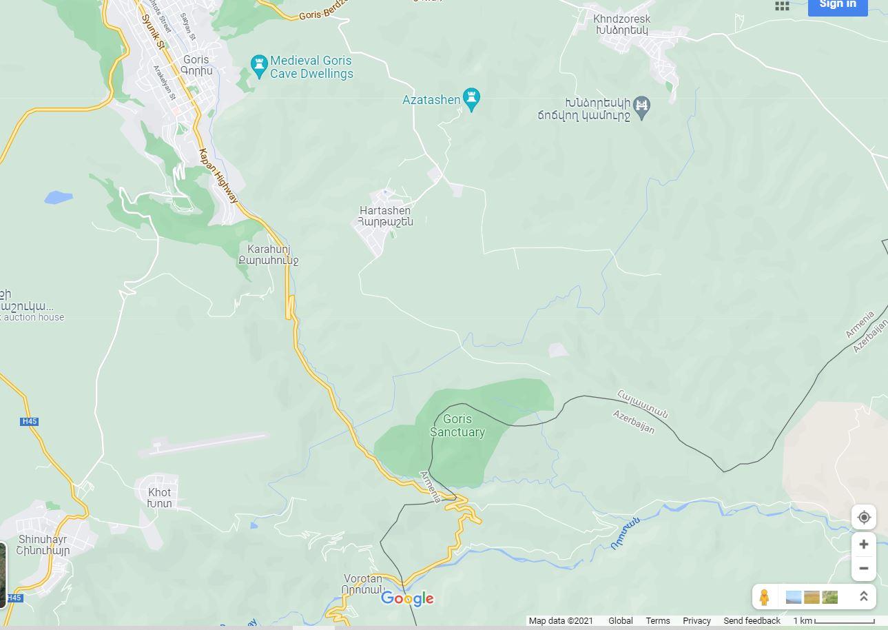 Map Goris - Vorotan Armenie
