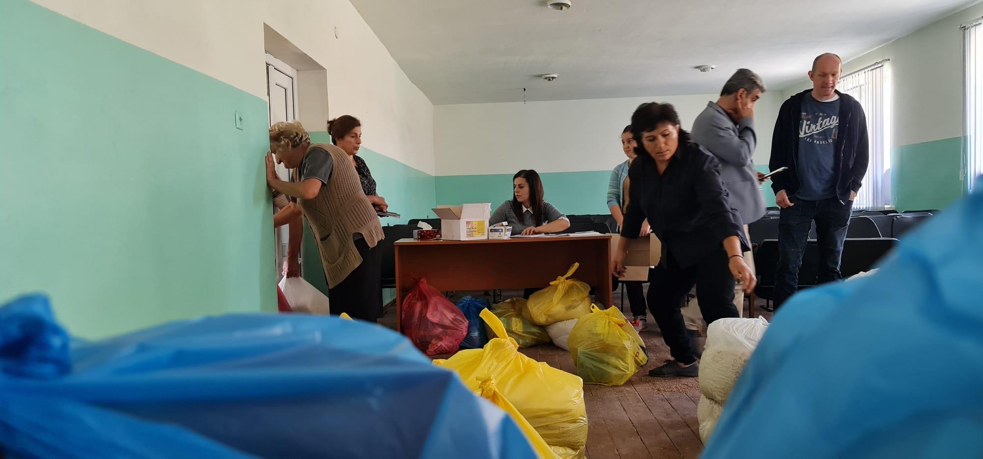 Voedselpakket-distributie Armenie